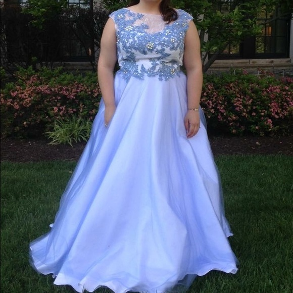 Alyce Paris Dresses | Blue Ball Gown Prom Dress | Poshmark